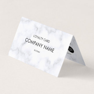 Loyalty White Marble Pattern Business Card