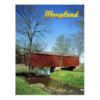 Loys Station Covered Bridge, Maryland Postcard