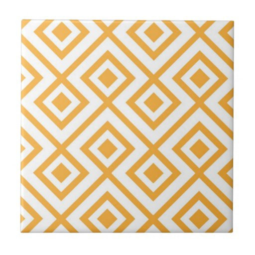 Lozenge Shaped Geometric Pattern Ceramic Tiles Zazzle