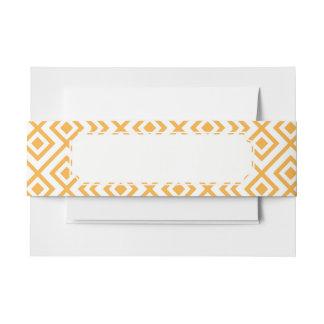 Lozenge shaped geometric pattern invitation belly band