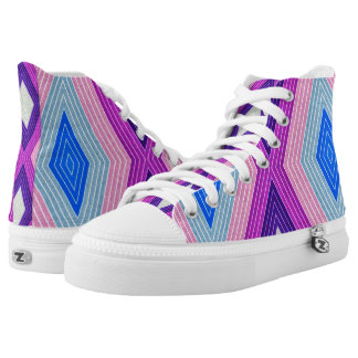 Lozenges Pattern High Tops
