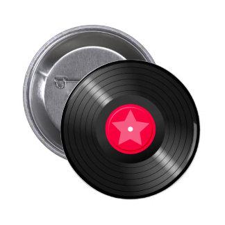 LP Record02 6 Cm Round Badge