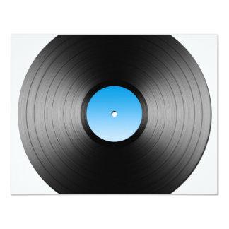 LP Record 11 Cm X 14 Cm Invitation Card