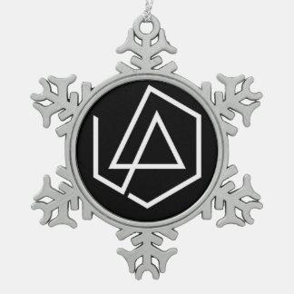 LP Snow Snowflake Pewter Christmas Ornament