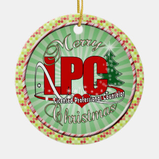 LPC CHRISTMAS  Licensed Professional Counselor Christmas Ornament