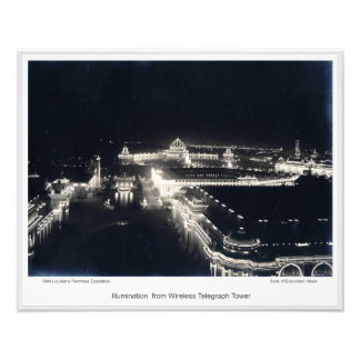 LPE11 - Illumination from Wireless Telegraph Tower Photo Print