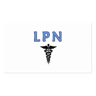 LPN Caduceus Medical Symbol Business Card Templates