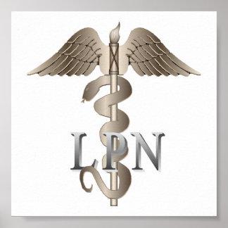 LPN Caduceus Print