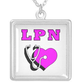 LPN Care Square Pendant Necklace