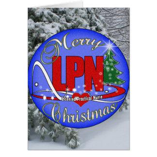 LPN CHRISTMAS MERRY LICENSED PRACTICAL NURSE GREETING CARD
