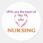 LPN Heart Classic Round Sticker