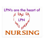 LPN Heart Post Cards