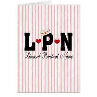 LPN Licensed Practical Nurse Greeting Card