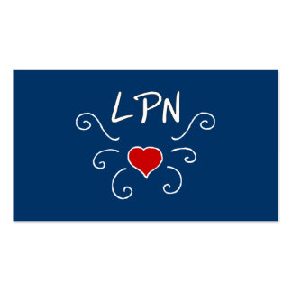 LPN Love Tattoo Pack Of Standard Business Cards