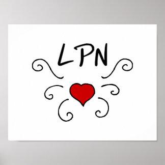 LPN Love Tattoo Poster