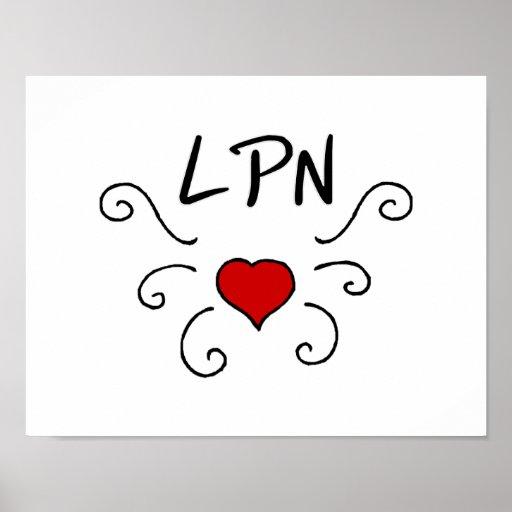 LPN Love Tattoo Posters