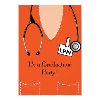 LPN Nurse Graduation Invitation Scrub #50