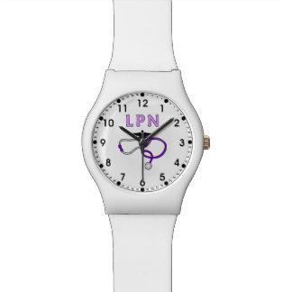 LPN Nurse Stethoscope Watch
