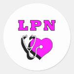 LPN Nurses Care Round Stickers