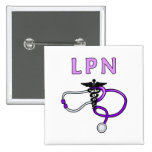 LPN Stethoscope 15 Cm Square Badge