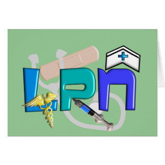 LPN  T-shirts and Gifts Greeting Card