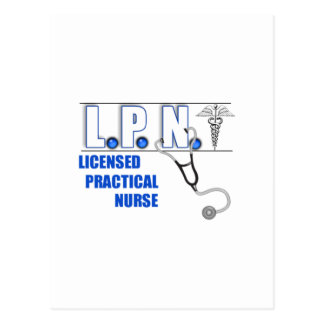 LPN with Stethescope Licensed Practical Nurse Post Cards