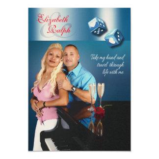 LR Destiny Las Vegas Wedding | CHAMPAGNE SHIMMER 13 Cm X 18 Cm Invitation Card