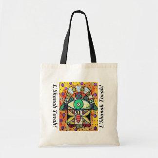 L'Shanah Tovah Gift/Tote Bag - Honey Bee Hamsa