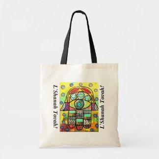 L'Shanah Tovah Gift/Tote Bag - Wailing Wall Hamsa