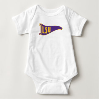 LSU Pennant Flag | Louisiana State 2 Baby Bodysuit