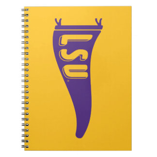 LSU Pennant Flag | Louisiana State 4 Spiral Notebook