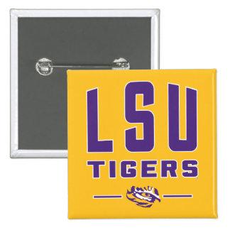 LSU Tigers | Louisiana State 4 15 Cm Square Badge