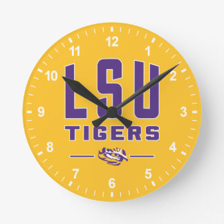 LSU Tigers | Louisiana State 4 Round Clock