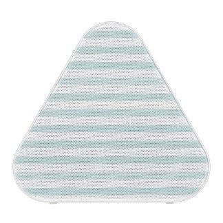Lt. Blue and White Horizontal Stripe Speaker