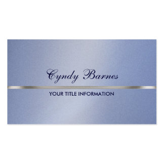 Lt Blue Shimmer with Silver Business Card