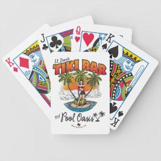 Lt. Dan's Tiki Bar & Pool Oasis Bikini Babe Bicycle Playing Cards
