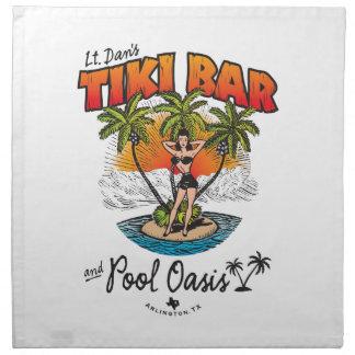 Lt. Dan's Tiki Bar & Pool Oasis Bikini Babe Napkin