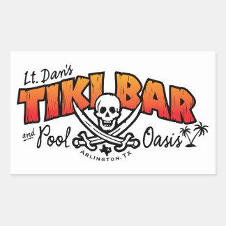 Lt. Dan's Tiki Bar & Pool Oasis Merchandise Rectangular Sticker