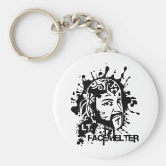 Lt. Facemelter Basic Round Button Key Ring