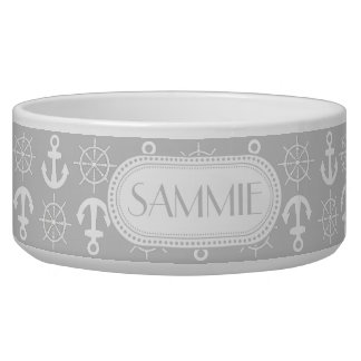 Lt Gray | White Anchors Wheels Nautical Monogram