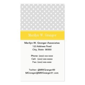 Lt Gray White Polka Dots Pineapple Name Monogram Pack Of Standard Business Cards