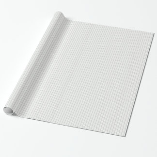 Lt Gray White Uneven Stripe Pattern Wrapping Paper