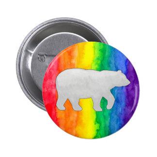Lt Grey Bear on Rainbow Wash Buttons Buttons