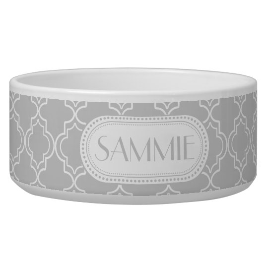 Lt Grey | White Moroccan Trellis Monogram Pet