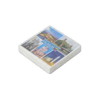 LT Lithuania - Vilnius - Stone Magnet