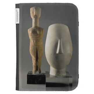 (Lto R) Figurine with crossed arms, Cycladic; head Cases For Kindle