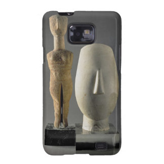 (Lto R) Figurine with crossed arms, Cycladic; head Galaxy S2 Cases
