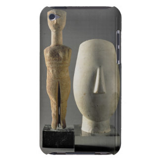 (Lto R) Figurine with crossed arms, Cycladic; head Barely There iPod Case