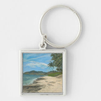 Lualualei Beach Hawaii Keychain