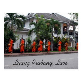 luang alms postcards